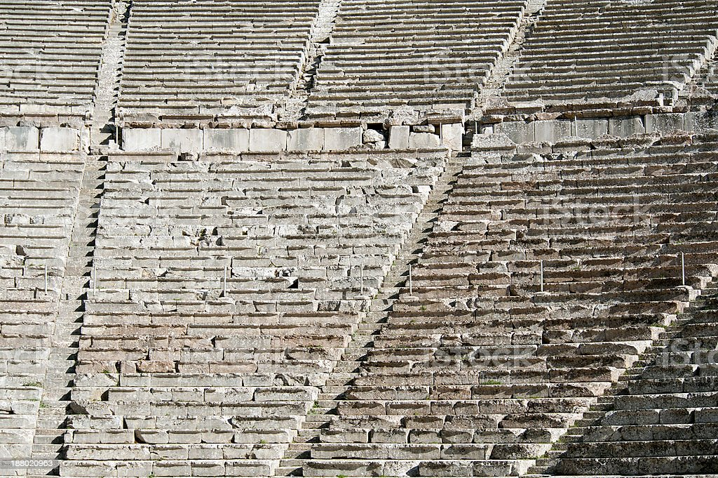 Epidaurus, ancient theater in Greece royalty-free stock photo