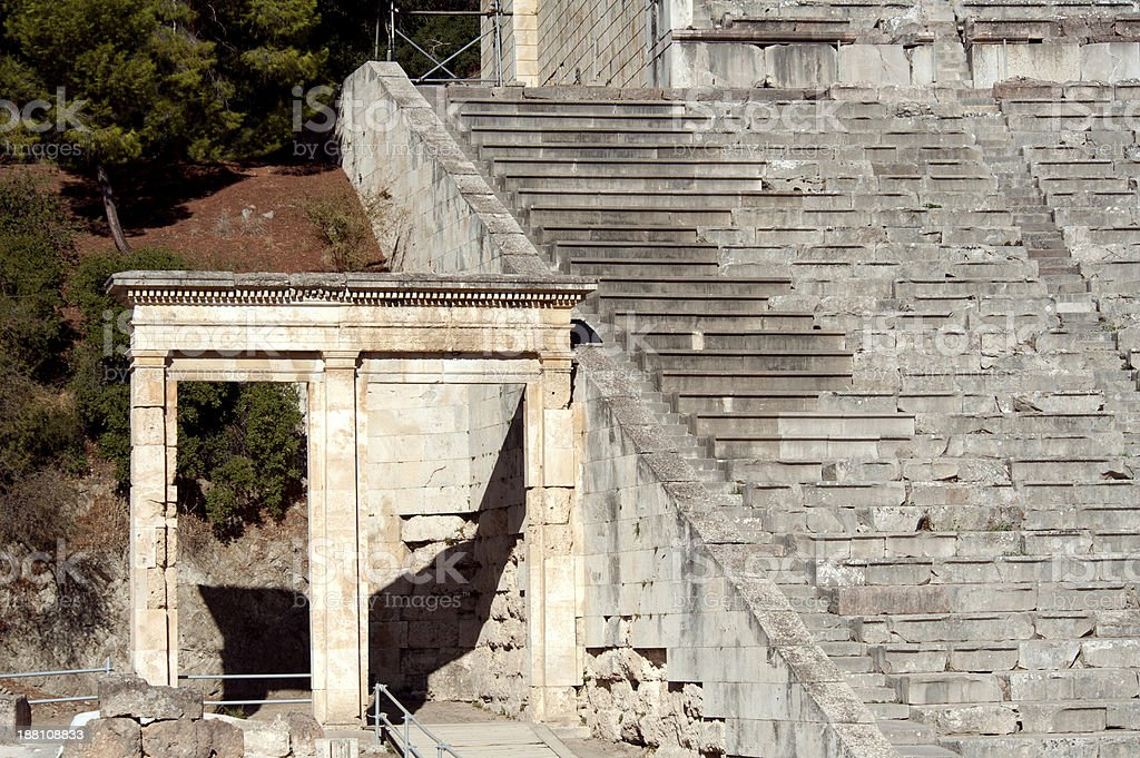 Epidaurus, ancient theater in Greece stock photo