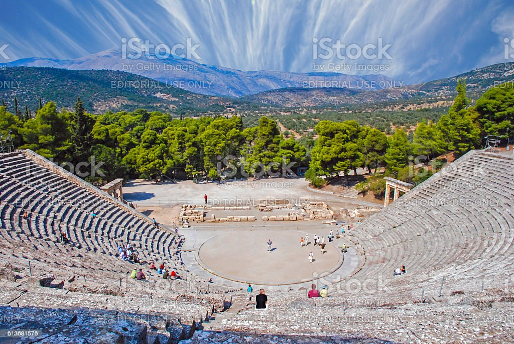 Epidaurus, Greece stock photo