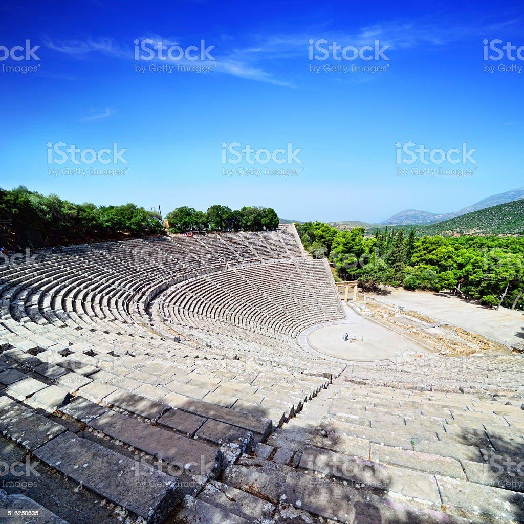 Epidaurus Theatre stock photo