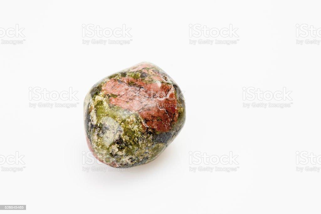 Epidote gemstone stock photo