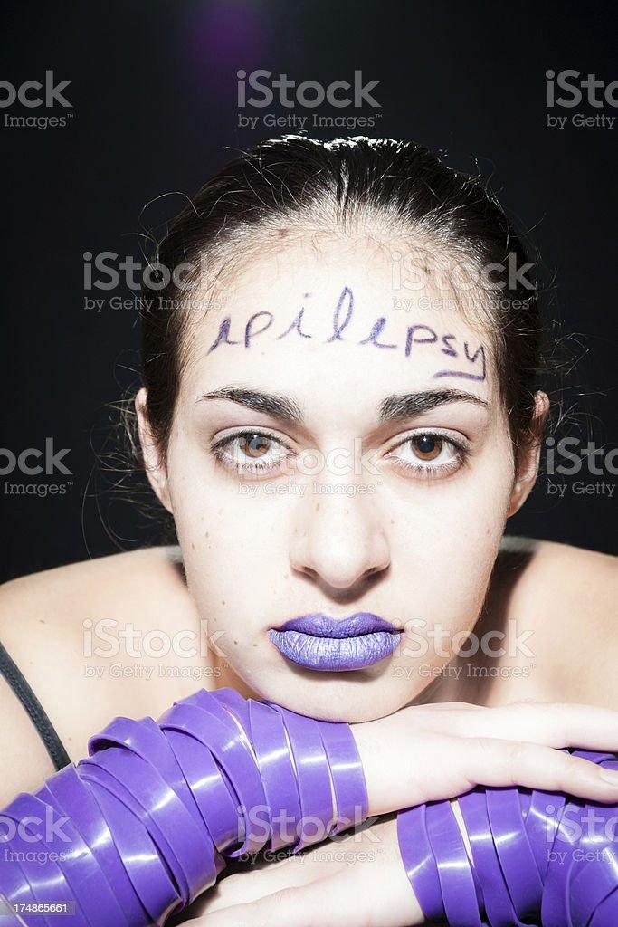 Epilepsy awareness royalty-free stock photo