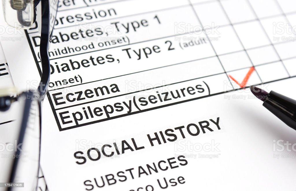 Epilepsy royalty-free stock photo