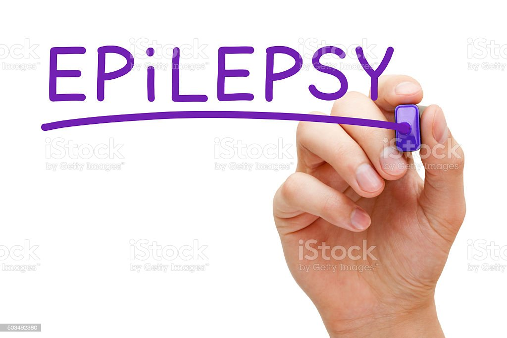 Epilepsy Purple Marker stock photo