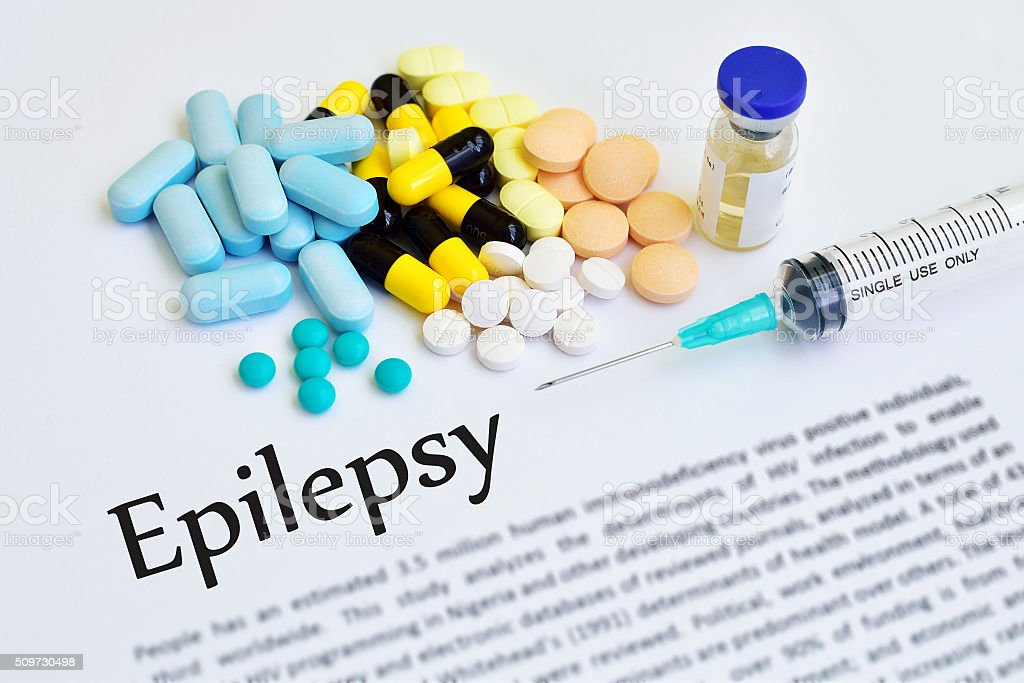 Epilepsy treatment stock photo