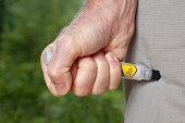 Epinephrine Injection using Auto-Injector Syringe