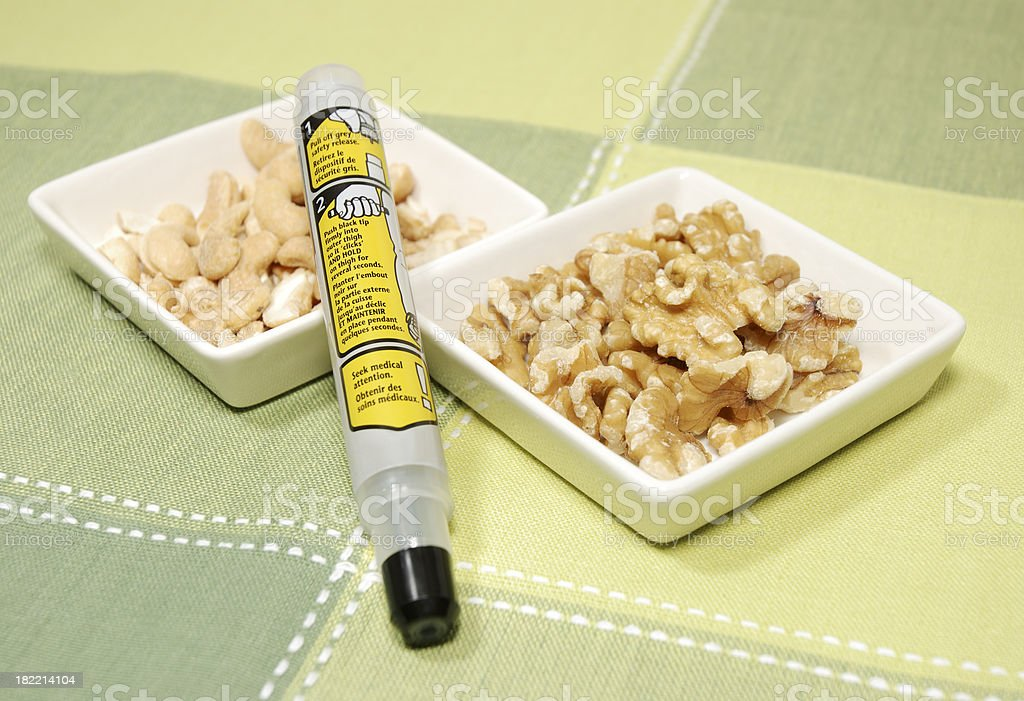 Epinephrine injector for allergy. royalty-free stock photo