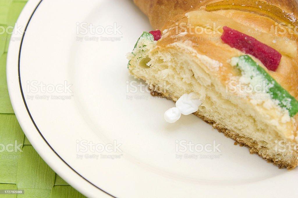 Epiphany bread rosca de reyes stock photo