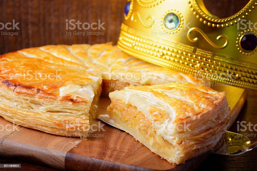Epiphany Twelfth Night Cake stock photo
