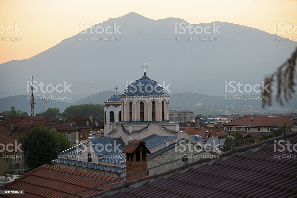 Episcopal Church of St George in Prizren, Kosovo royalty-free stock photo