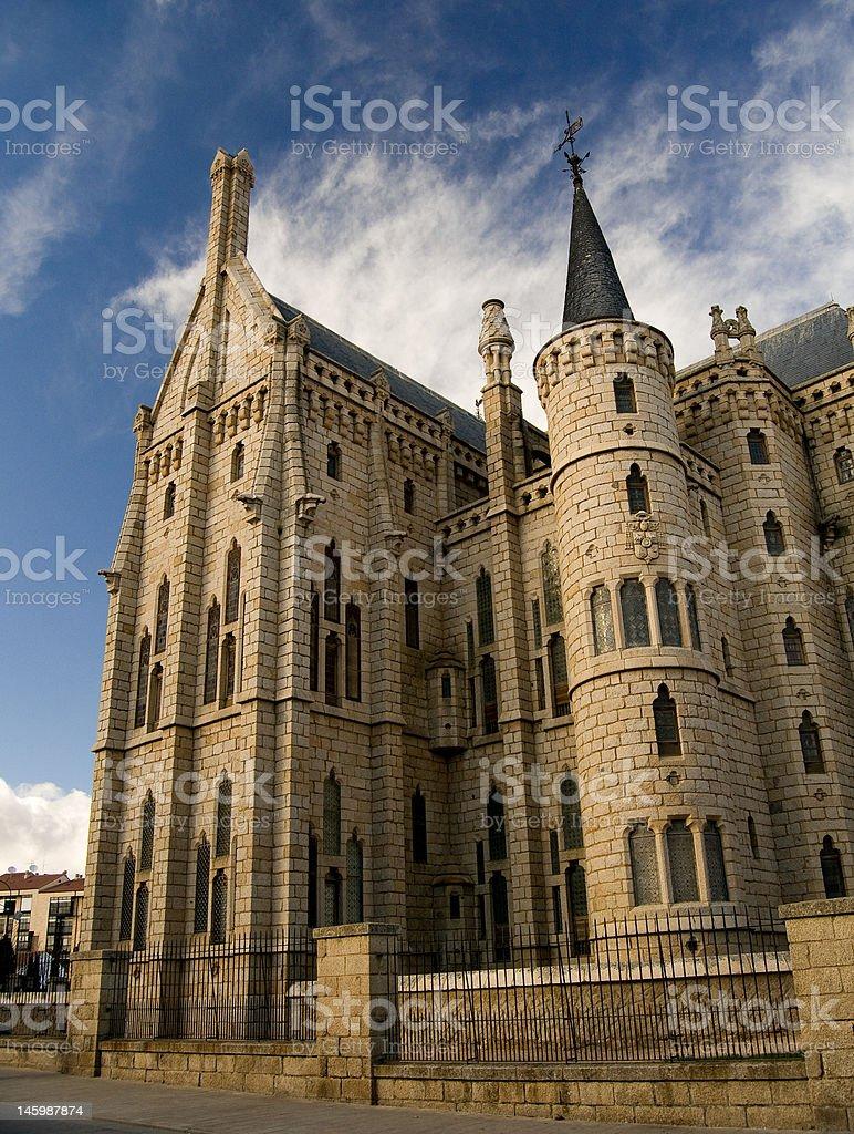 Episcopal Palace Gaudi of Astorga. Spain stock photo