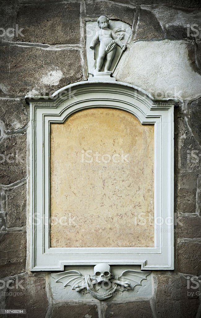 Epitaph stock photo