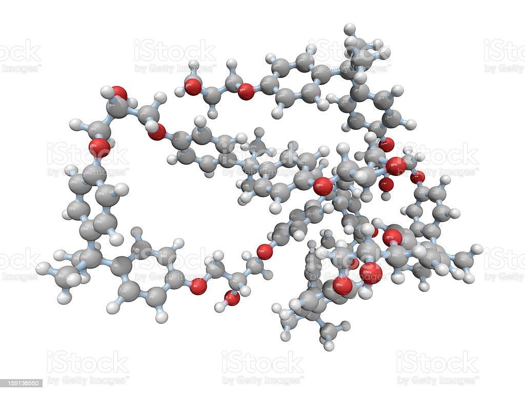 Epoxy Resin Molecular Model royalty-free stock photo