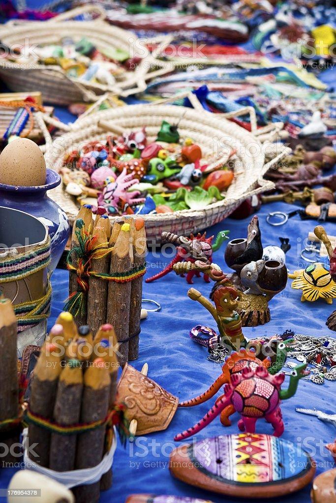 Equadorian Craft Market stock photo