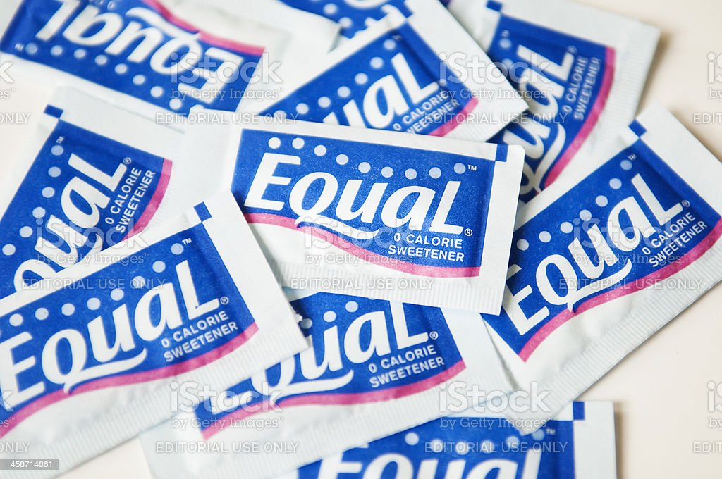 Equal artificial sweetener stock photo