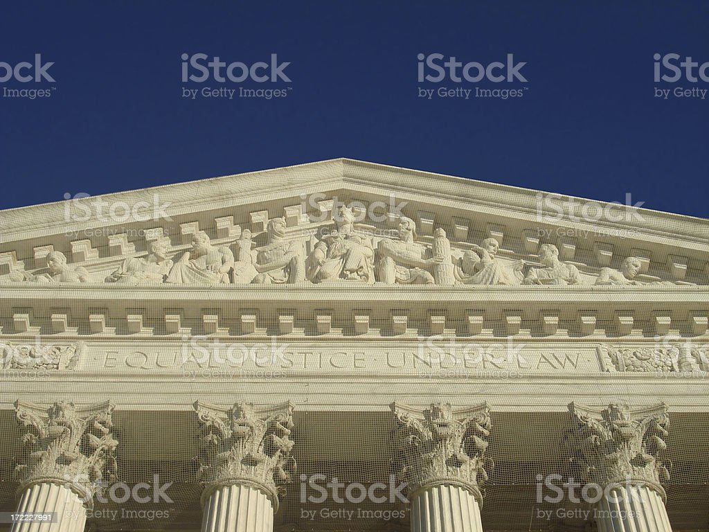 Equal Justice Pediment royalty-free stock photo