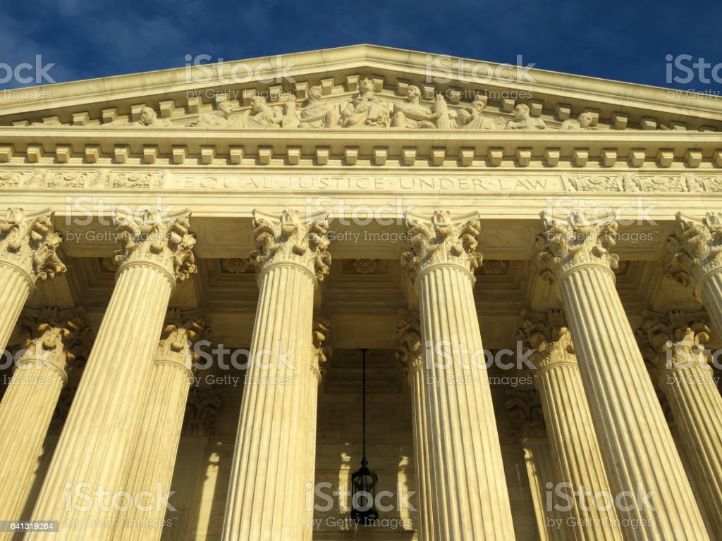 Equal Justice Under Law stock photo