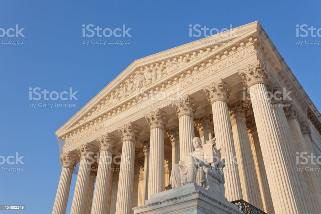 Equal Justice Under Law. US Supreme Court stock photo
