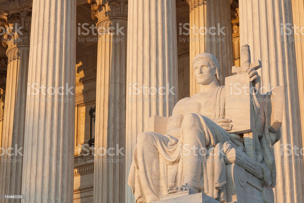 'Equal Justice Under Law,' US Supreme Court stock photo