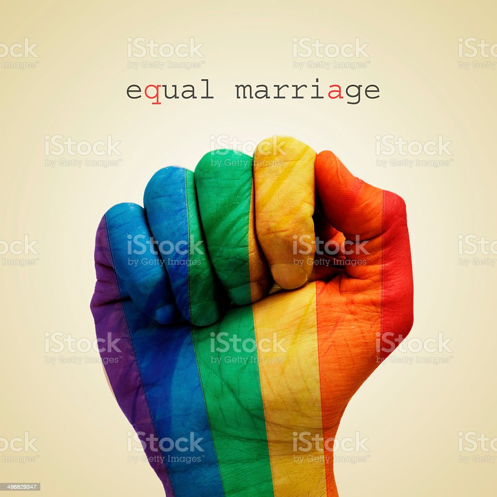 equal marriage stock photo