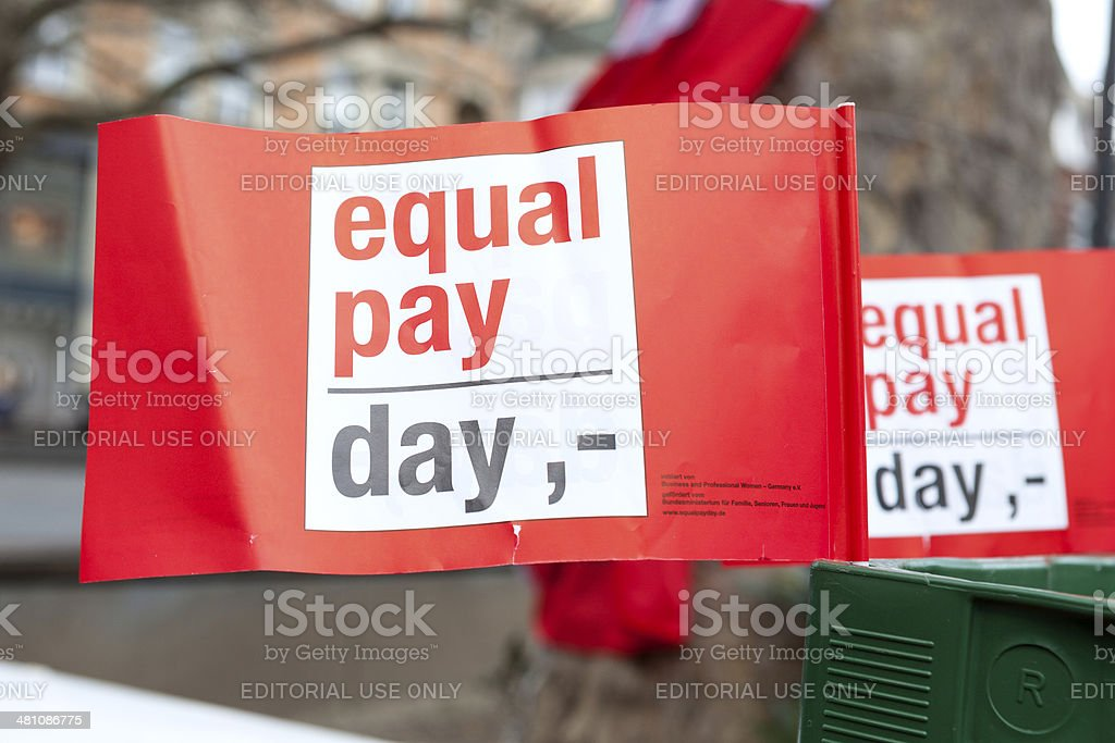 Equal Pay Day Wiesbaden 2014 stock photo