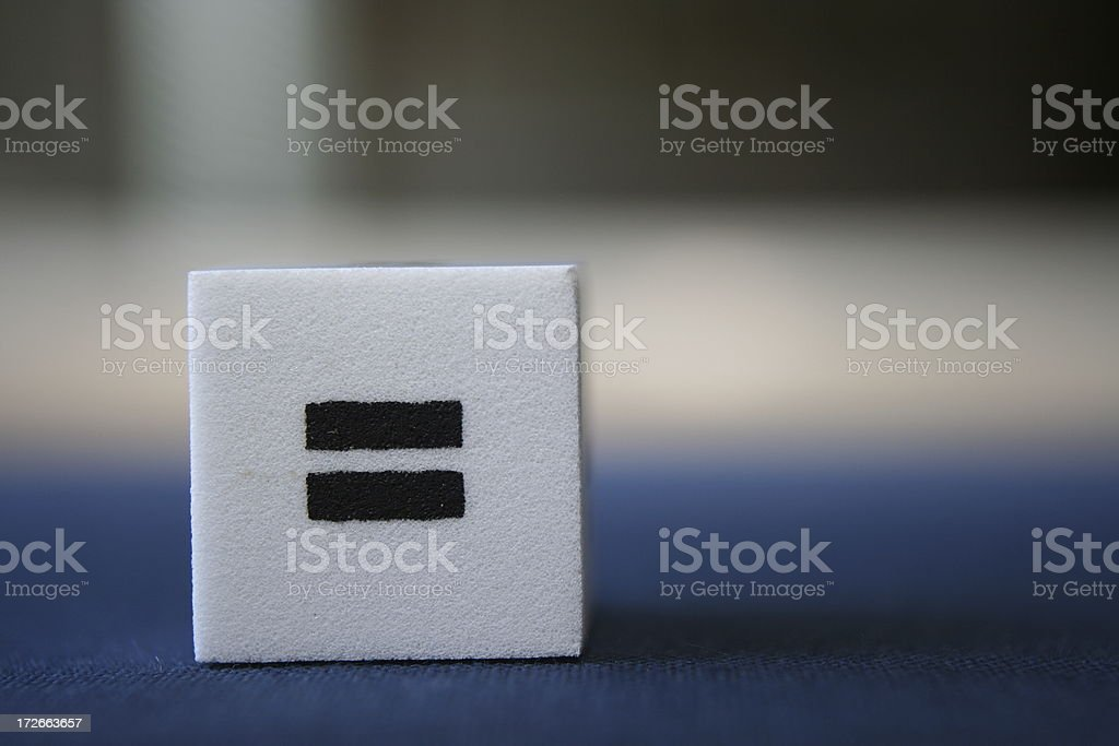 equal royalty-free stock photo