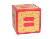 Equal Sign - Childrens Alphabet Block.