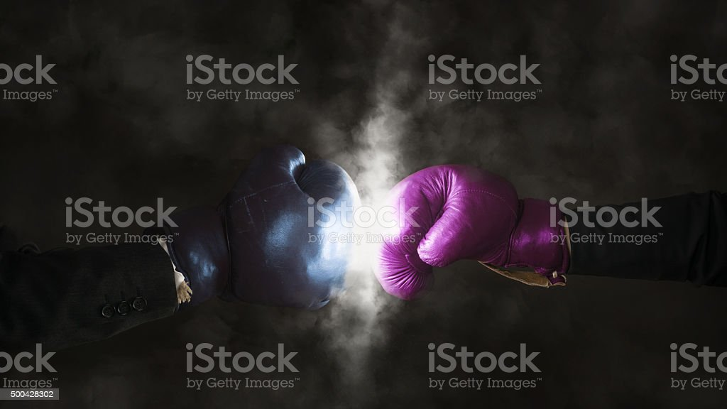 Equality between men and women in the workplace stock photo