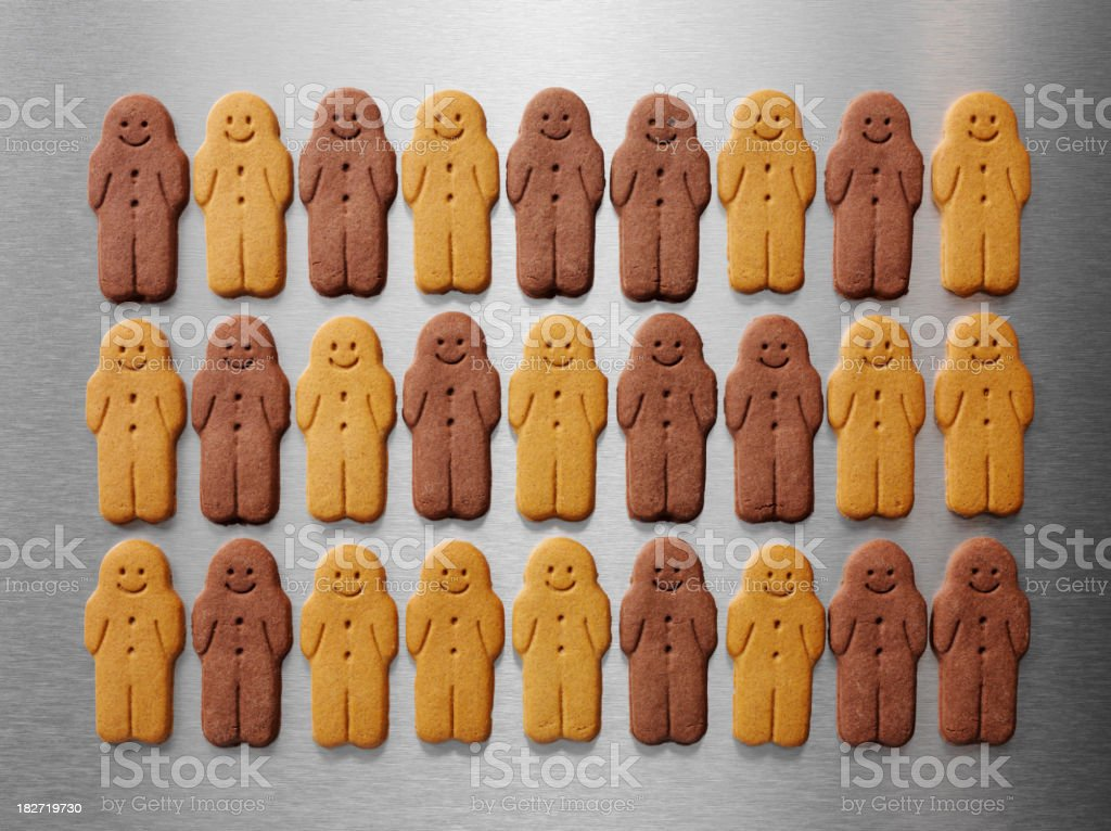 Equality in Gingerbread Men royalty-free stock photo