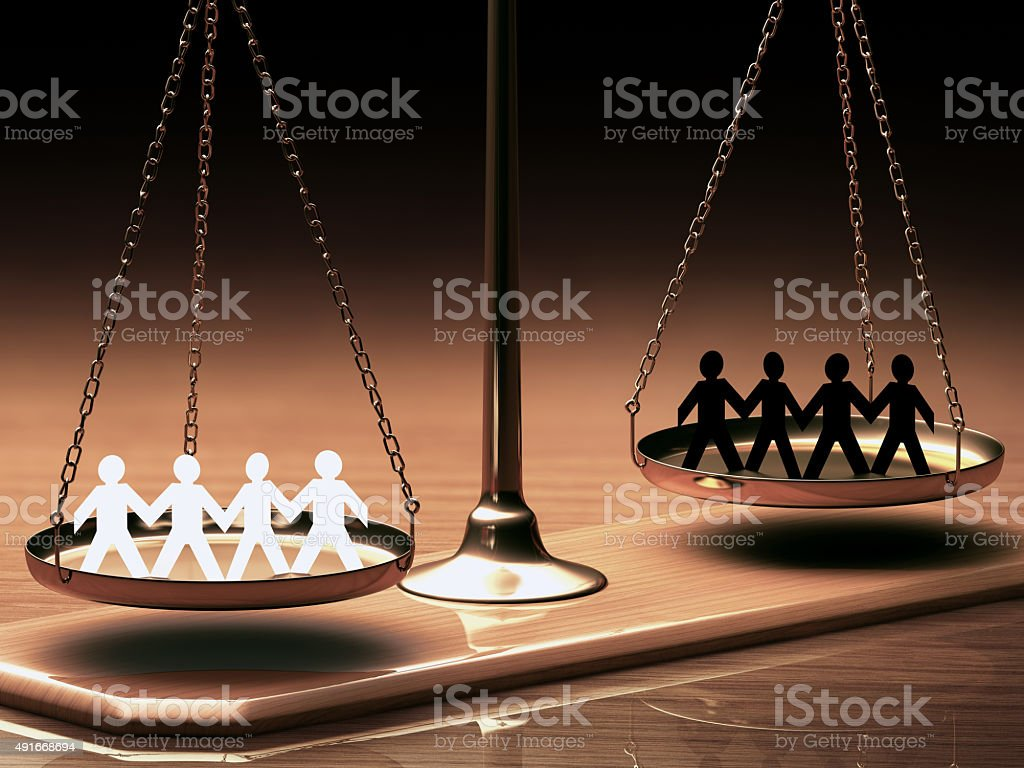 Equality Of Races stock photo