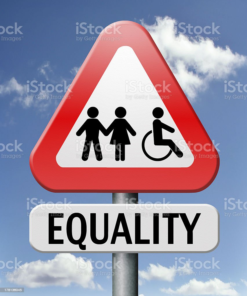 equality royalty-free stock photo