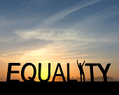 Equality success silhouette