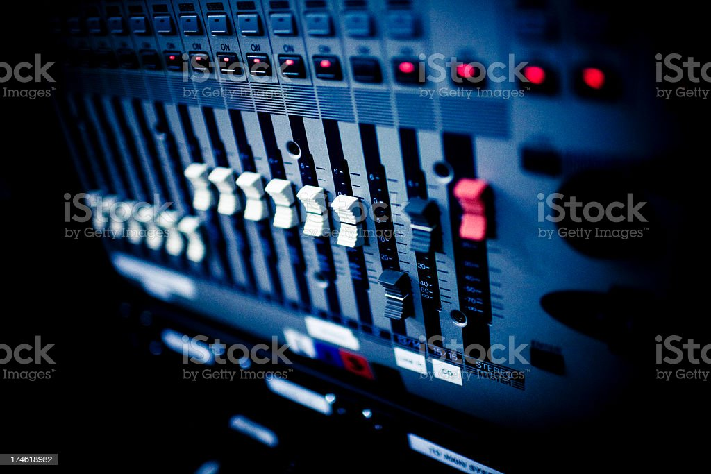 equalizer levels royalty-free stock photo
