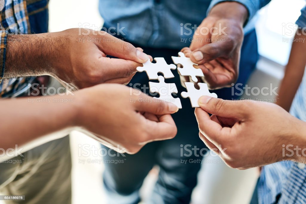 Equally responsible for finding a solution stock photo