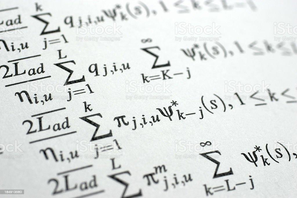 Equation stock photo