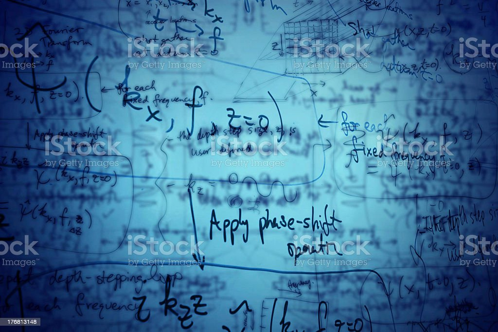 Equations stock photo