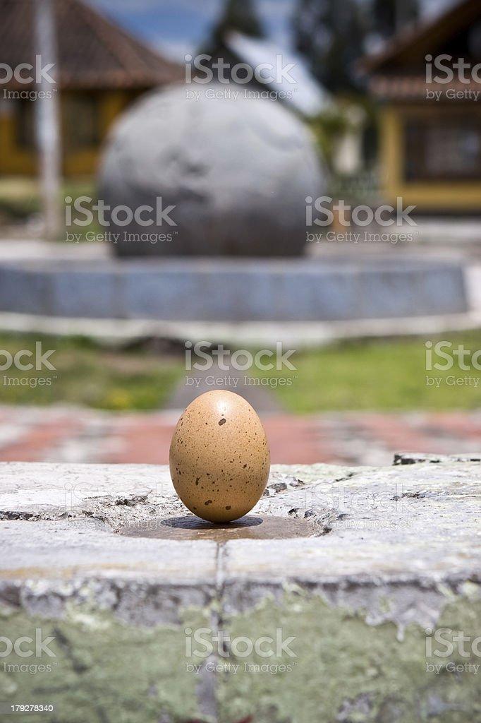 Equator Egg stock photo