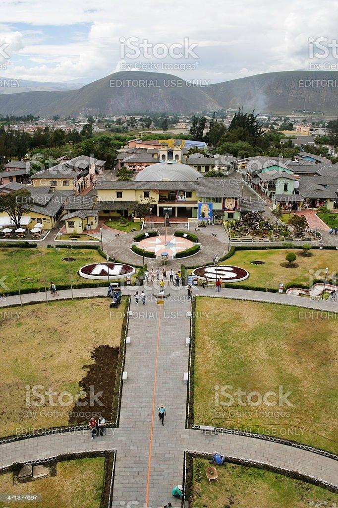 Equator in Ecuador royalty-free stock photo