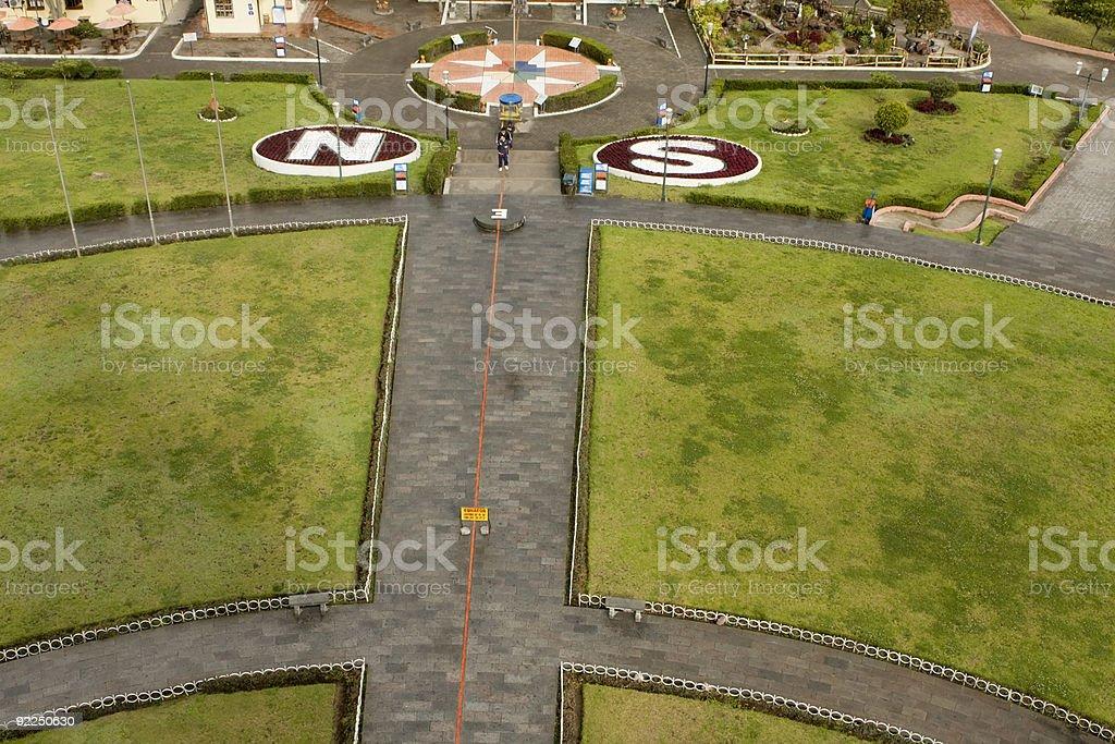 Equator line in Quito Ecuador stock photo