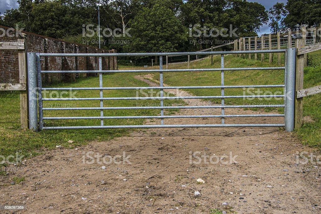 Equestrian Metal Gate royalty-free stock photo