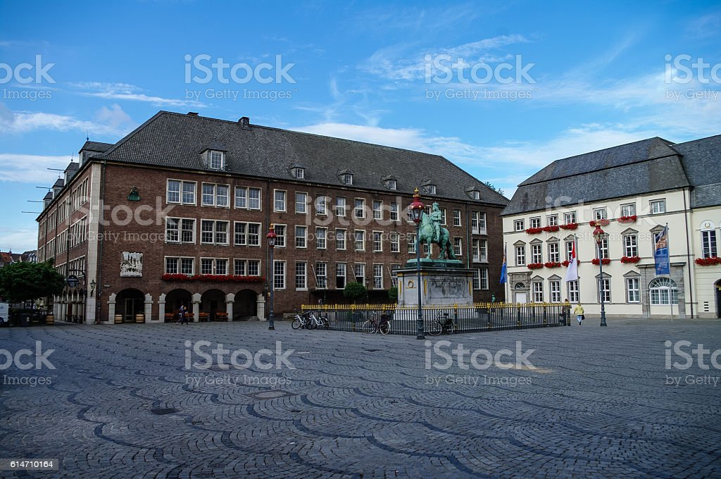 Equestrian monument of Johann Wilhelm II (Jan Wellem) stock photo
