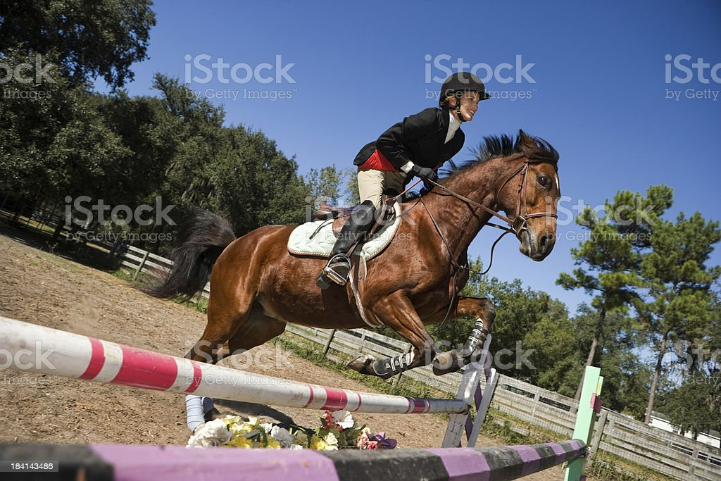 Equestrian show jumping royalty-free stock photo