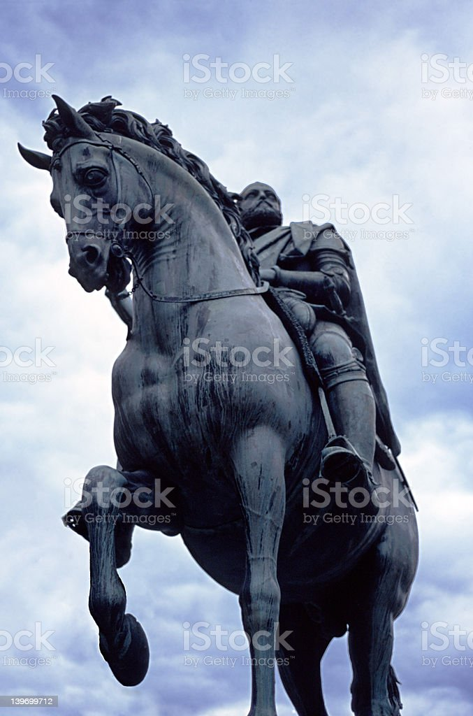 Equestrian Statue 1 royalty-free stock photo