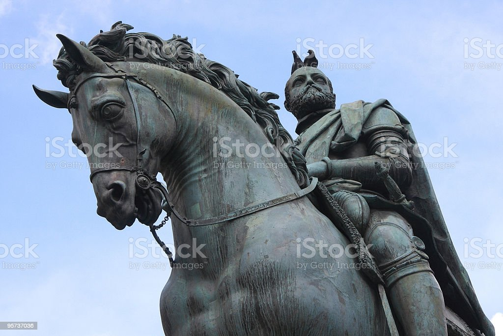 Equestrian Statue of Cosimo I royalty-free stock photo