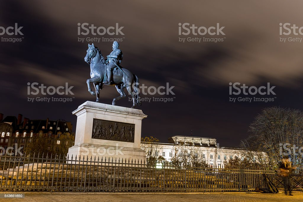 Equestrian Statue of Henry IV stock photo