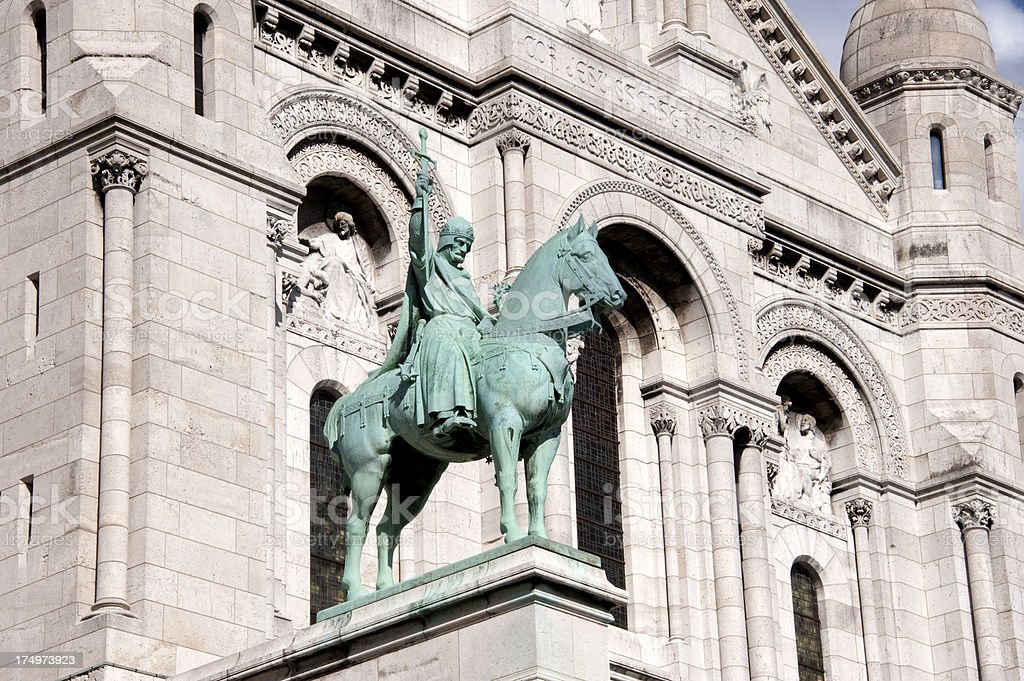 Equestrian Statue of King Saint Louis royalty-free stock photo