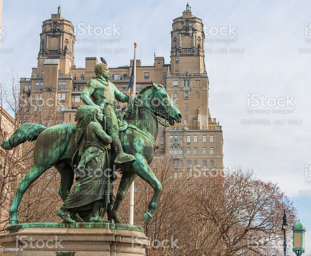 Equestrian Statue of Theodore Roosevelt stock photo