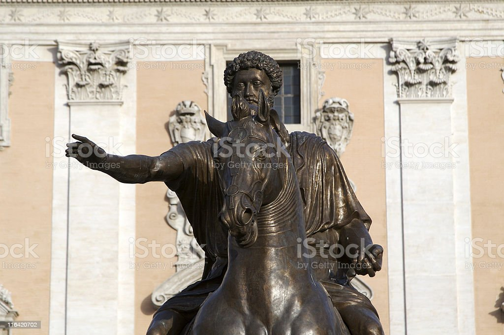 Equestrian statue royalty-free stock photo