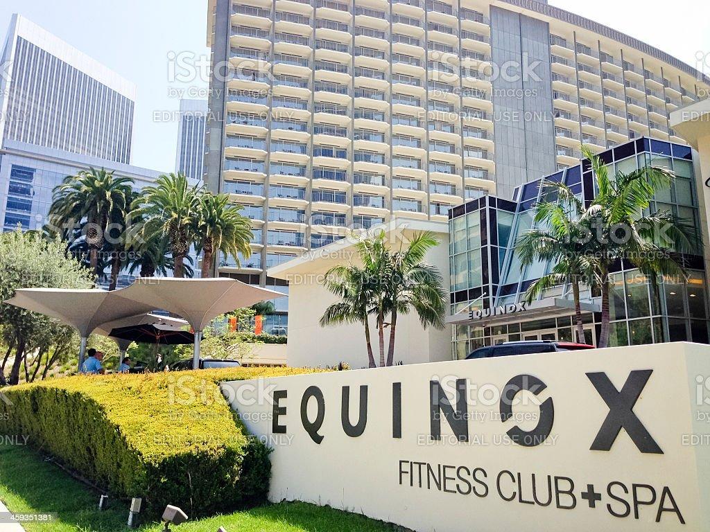 Equinox Fitness Club and SPA, Century City,California stock photo