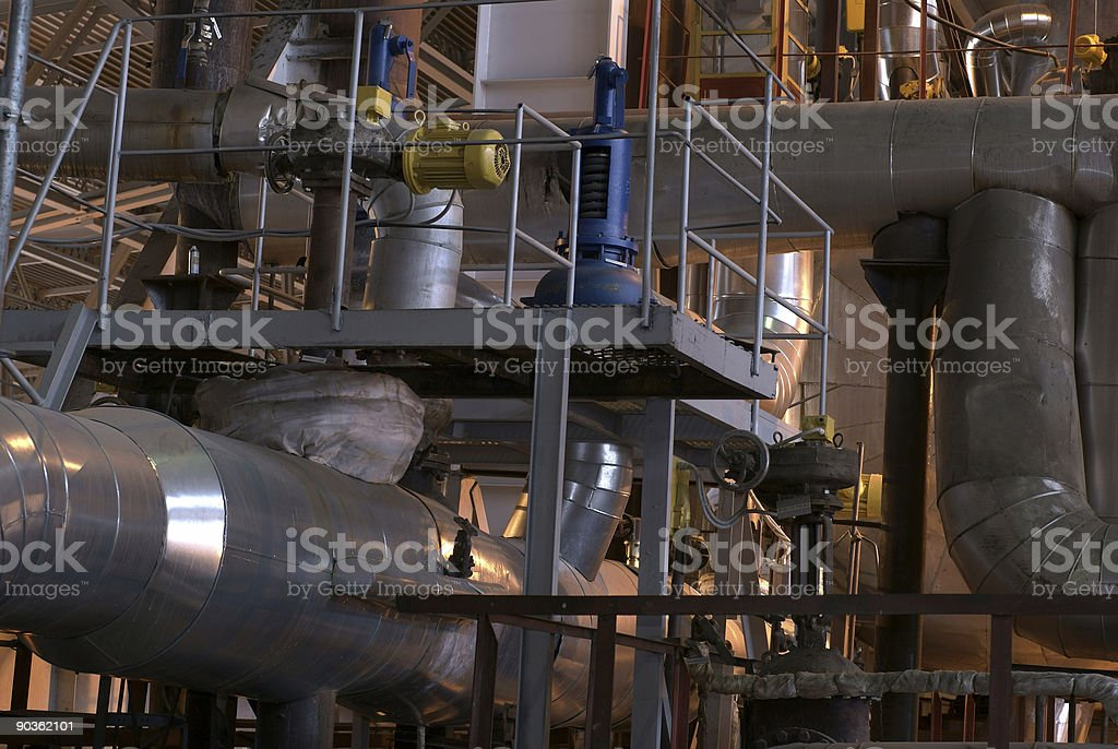Equipment, cables and piping royalty-free stock photo
